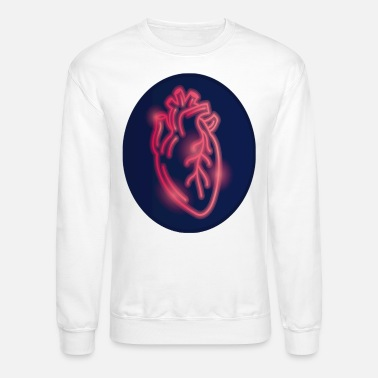 Red Blue Heart Real Style - Unisex Crewneck Sweatshirt