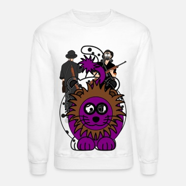 Purple Lion - Unisex Crewneck Sweatshirt
