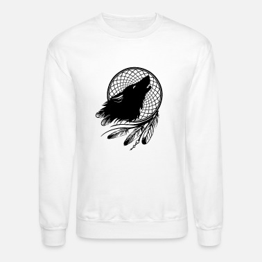 Dream Catcher Wolf Catcher by Qenjo - Crewneck Sweatshirt