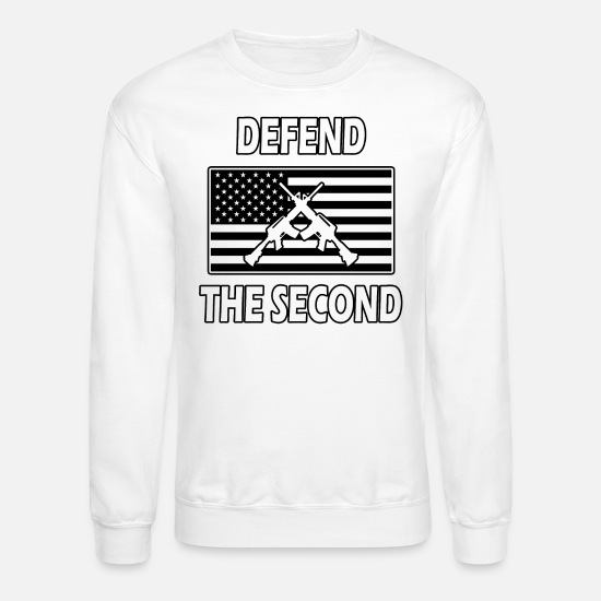 2nd Amendment Hoodies & Sweatshirts - Defend the Second - Unisex Crewneck Sweatshirt white