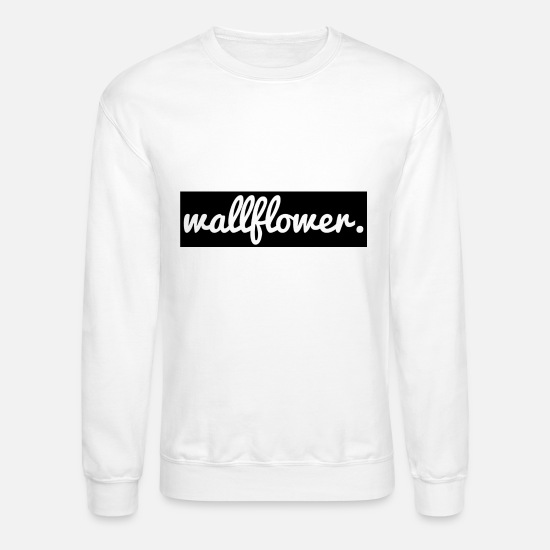 Awesome Hoodies & Sweatshirts - Wallfower - Unisex Crewneck Sweatshirt white