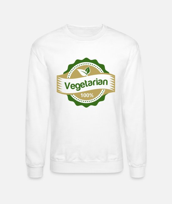 Burger Hoodies & Sweatshirts - 100 vegetarian copy - Unisex Crewneck Sweatshirt white