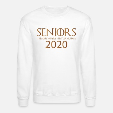 Class Of 2020 Seniors 2020 The One Where They Graduate Shirt - Unisex Crewneck Sweatshirt