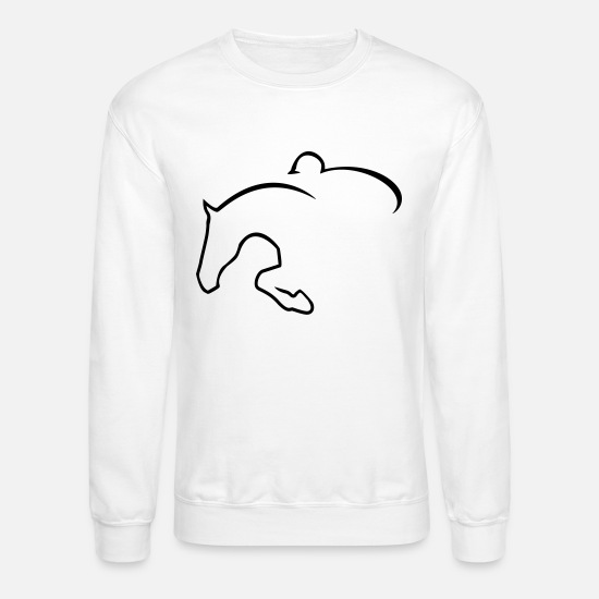 Jumper Hoodies & Sweatshirts - hunter jumper - Unisex Crewneck Sweatshirt white