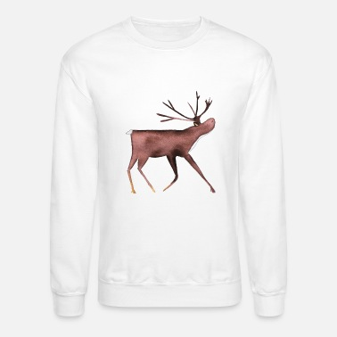Reindeer Reindeer Nomad on his travels - Unisex Crewneck Sweatshirt