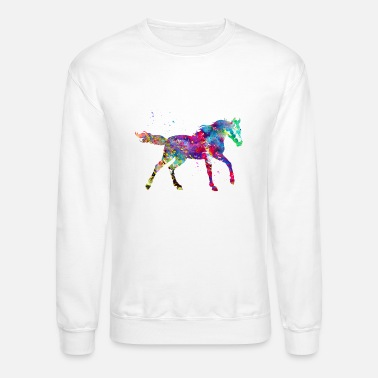 Watercolor Horse Print - Crewneck Sweatshirt