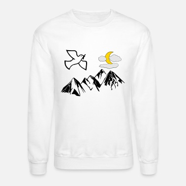 Branch Peace dove with Moon - Unisex Crewneck Sweatshirt