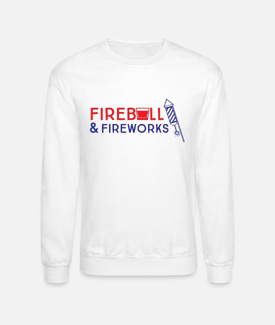 Stop Ball Hoodies & Sweatshirts - Fireball and Fireworks - Unisex Crewneck Sweatshirt white
