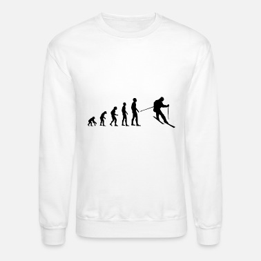 Skiing Evolution Skiing - Unisex Crewneck Sweatshirt