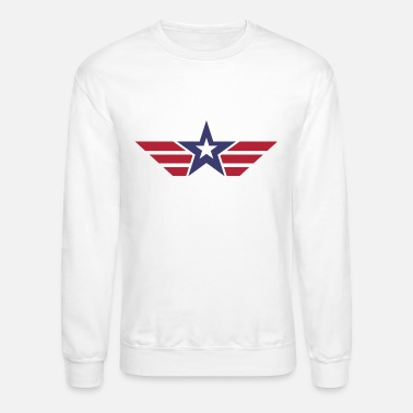 Stars And Stripes Star and Stripes America Desig - Unisex Crewneck Sweatshirt