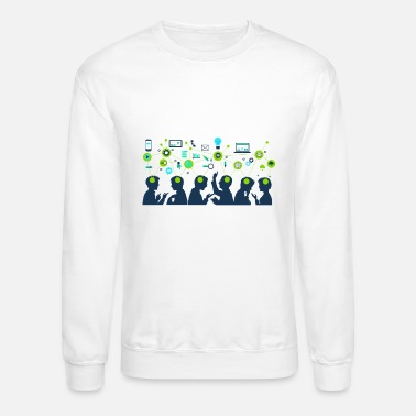 learning baby school college - Unisex Crewneck Sweatshirt