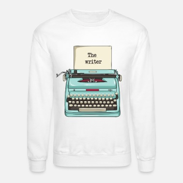 Fictive Writer - great typewriter design - Unisex Crewneck Sweatshirt