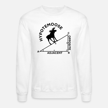 Geometry Moose Math Geometry school quote gift - Unisex Crewneck Sweatshirt