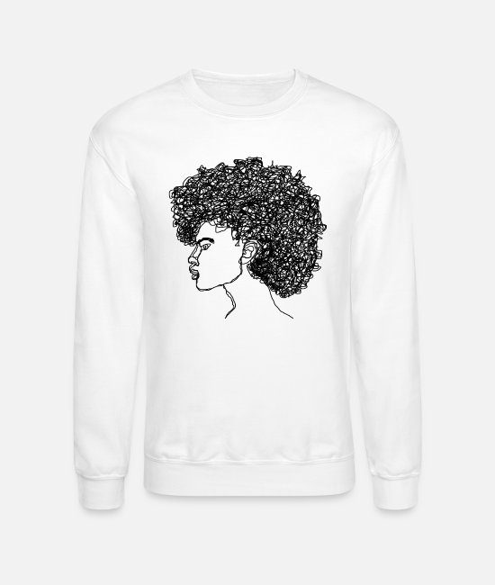 Attractive Hoodies & Sweatshirts - Curl$ - Unisex Crewneck Sweatshirt white