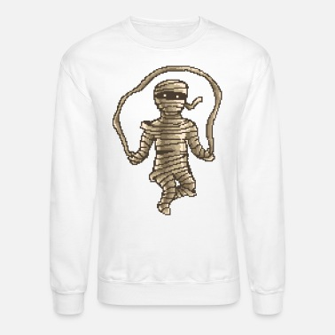 Mummy Jumprope | Pixelart Workout - Crewneck Sweatshirt