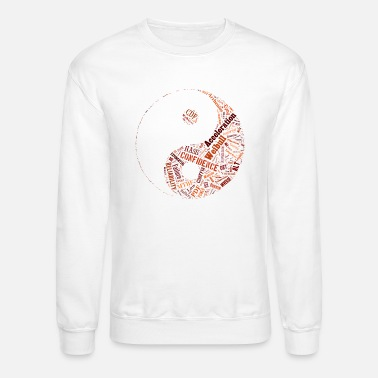 Tai Chi tai chi ying yang words cloud - Unisex Crewneck Sweatshirt