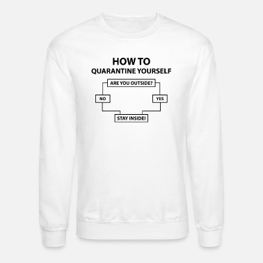 Corona How To Quarantine Yourself - Unisex Crewneck Sweatshirt