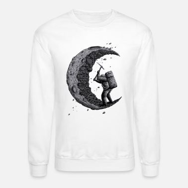 Moon Digging the moon Funny - Unisex Crewneck Sweatshirt