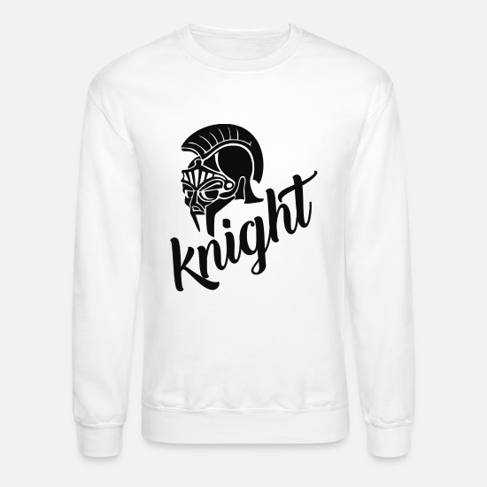 Knight's Cross Hoodies & Sweatshirts - masked knight - Unisex Crewneck Sweatshirt white