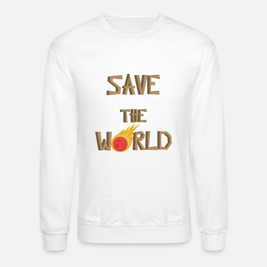 World Shirt Hoodies & Sweatshirts - World - Save the world - Unisex Crewneck Sweatshirt white