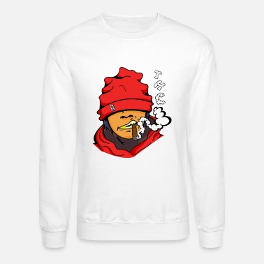 Graffiti G Chick Smoking Blunt - Unisex Crewneck Sweatshirt