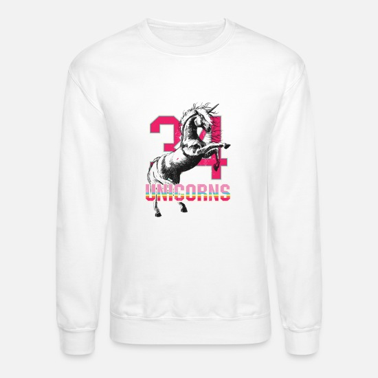 Unicorn Hoodies & Sweatshirts - All-Star Unicorn - Unisex Crewneck Sweatshirt white