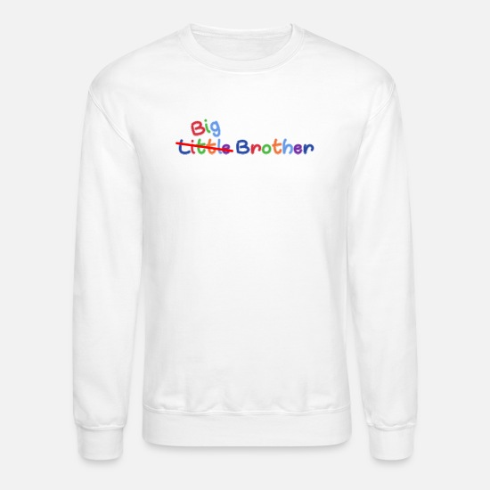 Big Hoodies & Sweatshirts - Little Big Brother - Unisex Crewneck Sweatshirt white