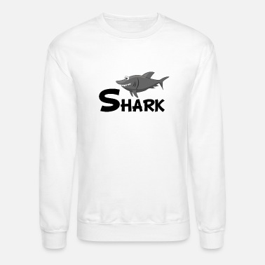 Cartoon Shark Cartoon Shark - Unisex Crewneck Sweatshirt
