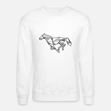 Horse Geometric Polygon T Idea Hipster Animal Mens 5050 T Shirt