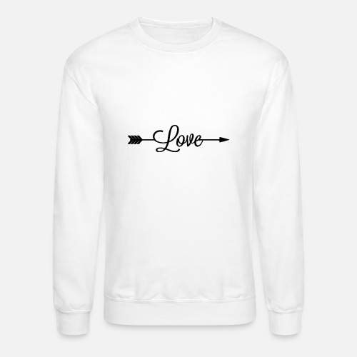 Writing Love Pierced Arrow Unisex Crewneck Sweatshirt