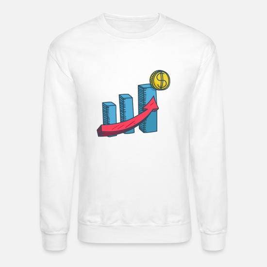 Illustration Hoodies & Sweatshirts - Coin Traffic Illustration - Unisex Crewneck Sweatshirt white