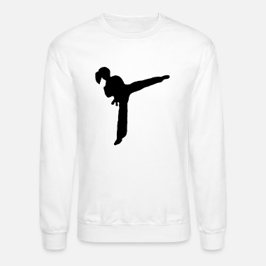 Girl Kicking - Unisex Crewneck Sweatshirt