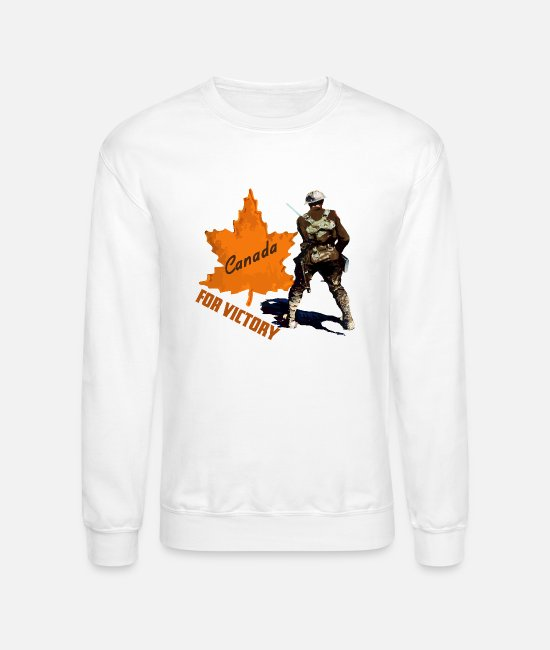 WW1 Hoodies & Sweatshirts - Canada For Victory WW1 Soldier - Unisex Crewneck Sweatshirt white