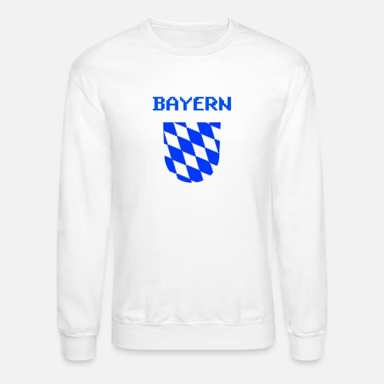 German Hoodies & Sweatshirts - bavaria shield - Unisex Crewneck Sweatshirt white