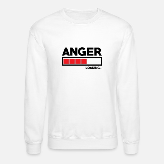 Indicator Hoodies & Sweatshirts - Anger - Unisex Crewneck Sweatshirt white