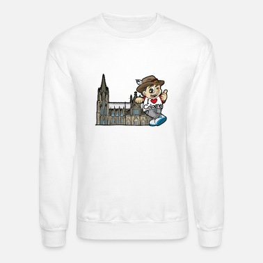 Rhine I LOVE COLOGNE Cathedral Germany Rhine Church - Unisex Crewneck Sweatshirt