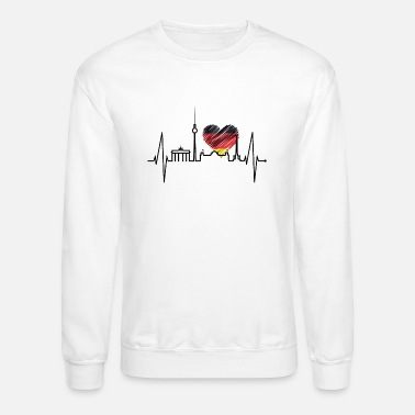 Spree Berlin Heartbeat Skyline Germany German Flag Heart - Unisex Crewneck Sweatshirt