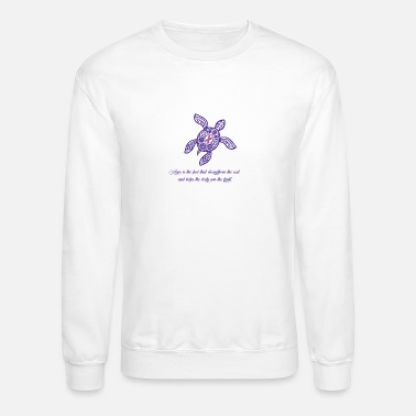 Pink Turtle with Pink Ribbon - Cancer Awareness - Unisex Crewneck Sweatshirt