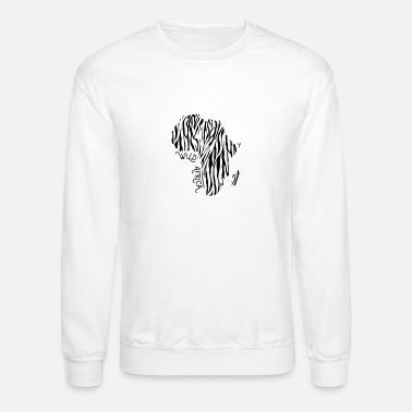 South Wild Africa Zebra Strip Afro Safari Africa - Unisex Crewneck Sweatshirt