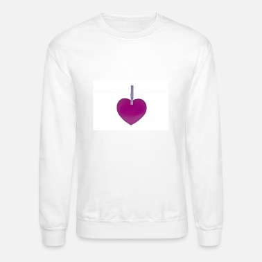 Heart Line Heart on a line - Crewneck Sweatshirt