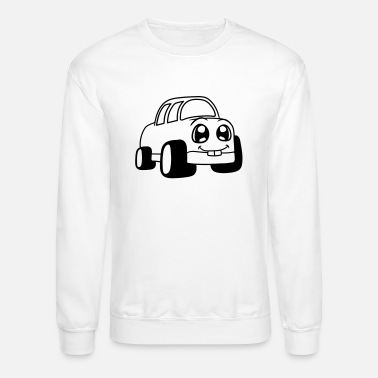 Face Alive Comic Cartoon Car Speeding Fast Race Ca Mens Premium T