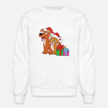 Christmas Xmas Dog Cat Ts Mens Jersey T Shirt