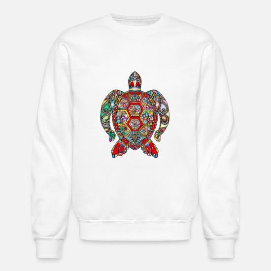 6d9f2ea5 Turtle Hoodies & Sweatshirts - Sea Turtle Mandala - Unisex Crewneck  Sweatshirt white