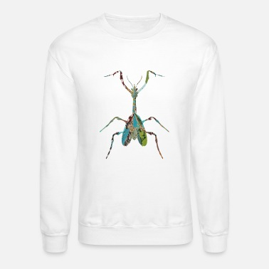 Insect artTS collage art INSECT : MANTIS praying greenz - Unisex Crewneck Sweatshirt