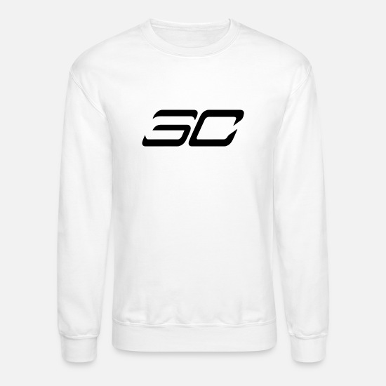 Curry Hoodies & Sweatshirts - STEPHEN CURRY SC - Unisex Crewneck Sweatshirt white