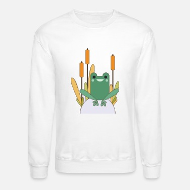 Frog frog on a rock - Unisex Crewneck Sweatshirt