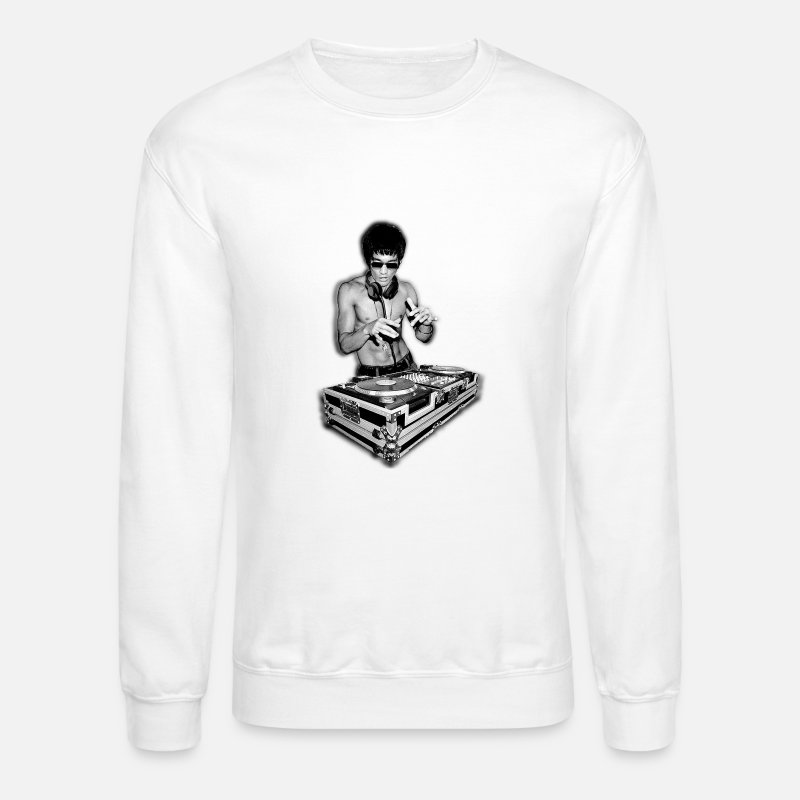 Lee Hoodies & Sweatshirts - Dj Bruce Lee - Unisex Crewneck Sweatshirt white