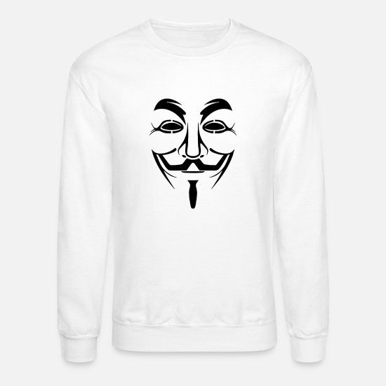 Anonymous Hoodies & Sweatshirts - Anonymous - Unisex Crewneck Sweatshirt white