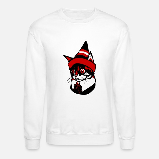 Kitten Hoodies & Sweatshirts - Elf Kitten - Unisex Crewneck Sweatshirt white