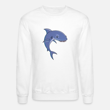 Cartoon Shark Sharky Cartoon Shark - Unisex Crewneck Sweatshirt